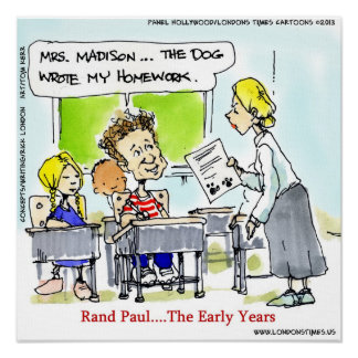 Rand Paul The Younger Years Funny Poster