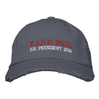 RAND PAUL US PRESIDENT 2016 WHITE LADIES CAP EMBROIDERED HAT