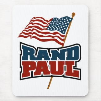 Rand Paul Waving American Flag Mouse Pad