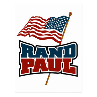 Rand Paul Waving American Flag Postcard