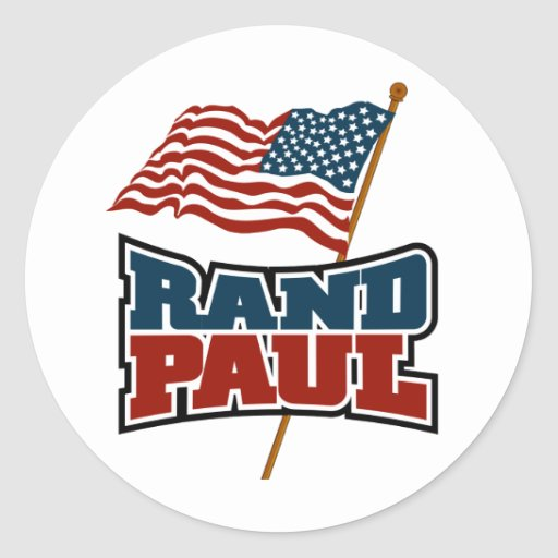 Rand Paul Waving American Flag Sticker