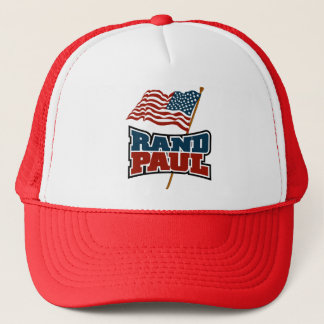 Rand Paul Waving American Flag Trucker Hat
