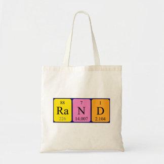 Rand periodic table name tote bag