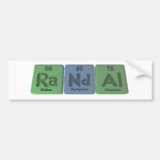 Randal  as Radium Neodymium Aluminium Bumper Sticker