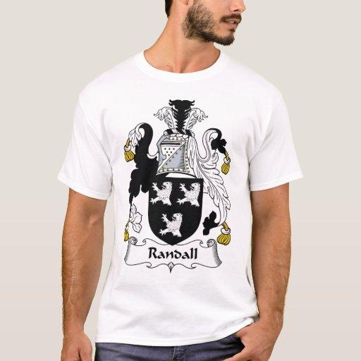 Randall Family Crest T Shirt Zazzle