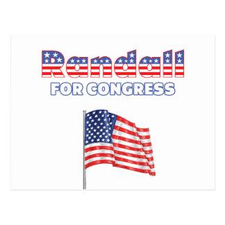 Randall for Congress Patriotic American Flag Postcard