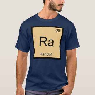 Randall Name Chemistry Element Periodic Table T-Shirt