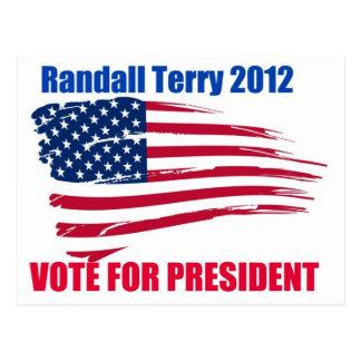 Randall Terry For President Postcard
