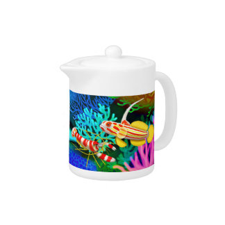 Randalls Pistol Shrimp & Yasha Goby Fish Teapot