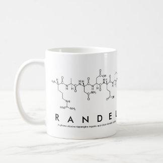 Randel peptide name mug