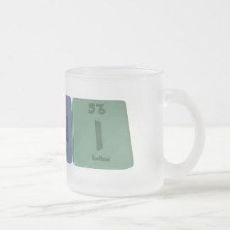 Randi as Radium Neodymium Iodine 10 Oz Frosted Glass Coffee Mug