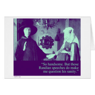 randian speeches (blank) greeting card