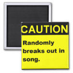 Randmon Song 2 Inch Square Magnet