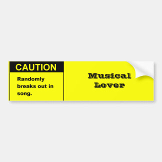 Randmon Song Bumper Sticker