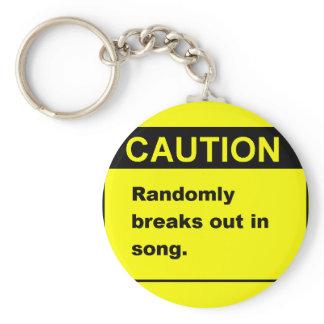 Randmon Song Keychain