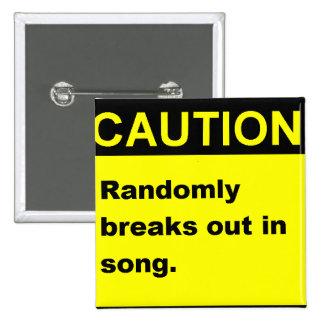 Randmon Song Pinback Button