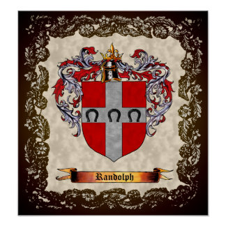 Randolph Coat of Arms Poster