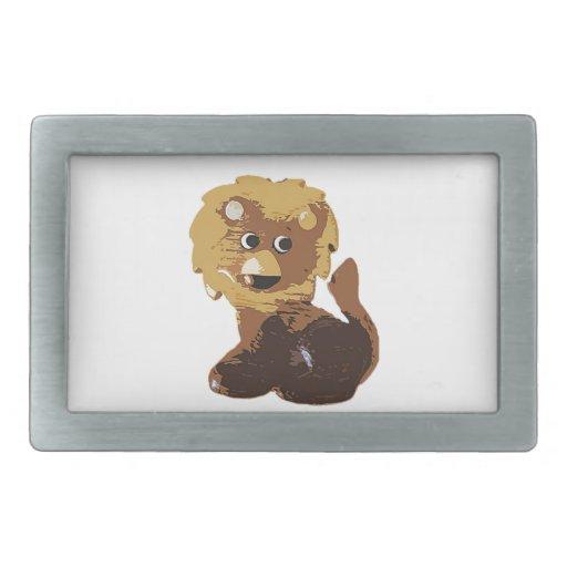 Randolph el león hebilla de cinturón rectangular