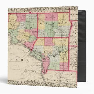 """Randolph, Perry, condados de Jackson Carpeta 1 1/2"""""""