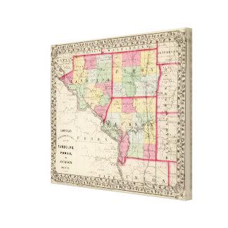 Randolph, Perry, condados de Jackson Impresión En Lienzo Estirada