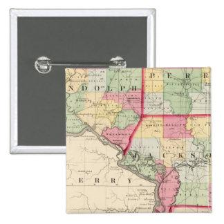 Randolph, Perry, condados de Jackson Pin Cuadrada 5 Cm