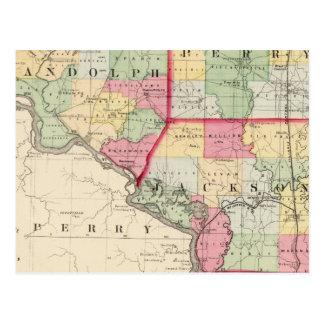 Randolph, Perry, condados de Jackson Postales
