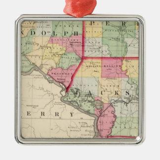 Randolph, Perry, Jackson counties Metal Ornament