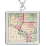 Randolph, Perry, Jackson counties Square Pendant Necklace