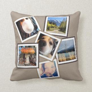Random 6 Instagram Photo Collage Pillow