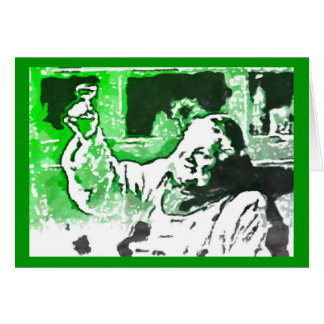 Random Absinthe Monk Says Cheers Card
