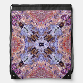 Random Abstract Design Drawstring Bag