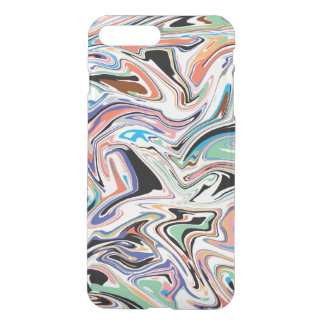 Random Abstract iPhone X/8/7 Plus Clear Case