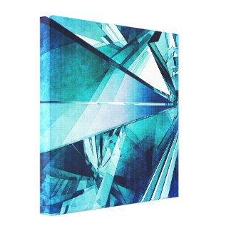Random Abstract Shapes Canvas Print