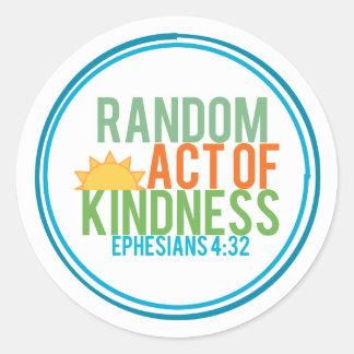 Random Act of Kindness (Biblical) Classic Round Sticker