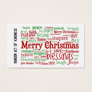 Christmas Themed Random Act of Kindness Christmas Cards
