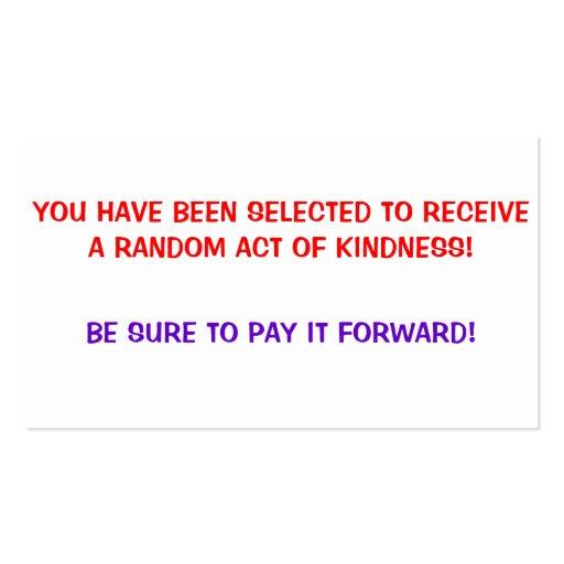 Random Acts Of Kindness Business Card Templates Bizcardstudio