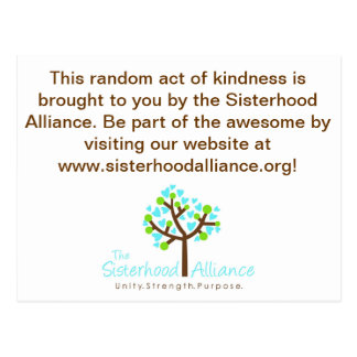 Random Act of Kindness Project Postcard