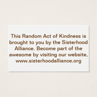 Random Act of Kindness Project Small Cards