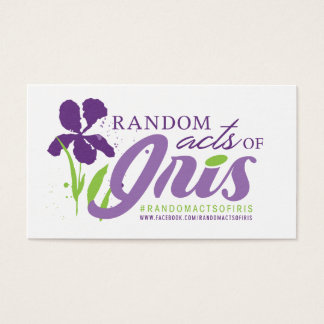 Random Acts of Iris Business Card