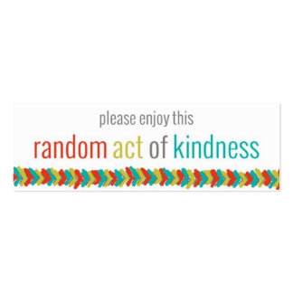 Random Acts of Kindness Challenge Card II Double-Sided Mini Business Cards (Pack Of 20)
