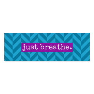 Random Acts of Kindness Just Breathe Card Mini Business Card