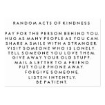 Random Acts of Kindness Pay It Forward Card I Large Business Cards (Pack Of 100)