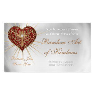 Random Acts of Kindness Personal wallet cards - Double-Sided Standard Business Cards (Pack Of 100)