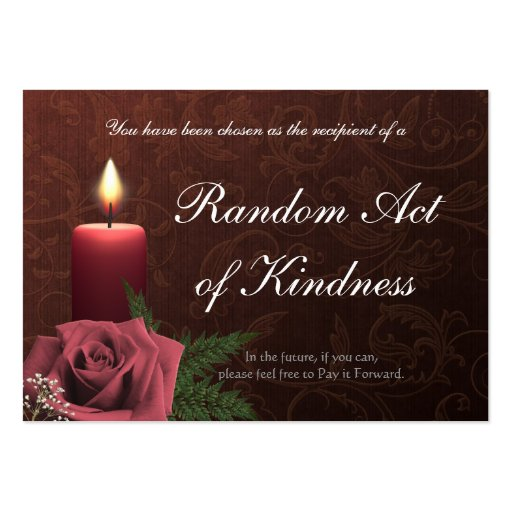 Random Acts of Kindness wallet Cards - Large Business Cards (Pack Of 100)