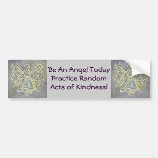 Random Acts of Kindness White Angel Bumper Sticker Car Bumper Sticker
