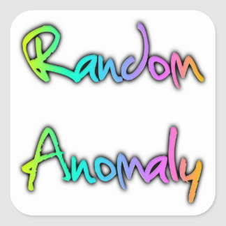 Random Anomaly Rainbow Square Sticker