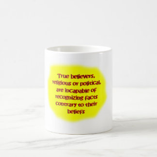 random brain farts - believers classic white coffee mug