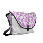Random Bright Pink Stars Courier Bag
