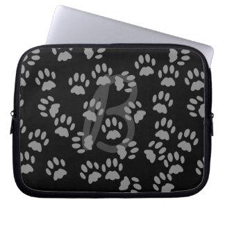 Random Cat Paw Print Pattern Laptop Sleeve