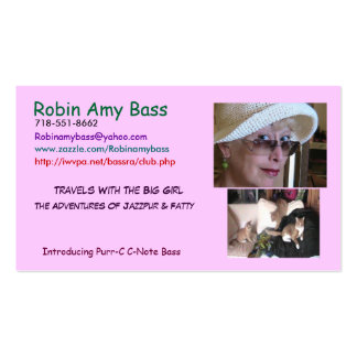 RANDOM CATS IN HAIRBALL ALLEY Double-Sided STANDARD BUSINESS CARDS (Pack OF 100)